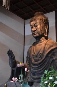 飛鳥寺の飛鳥大仏 (1)