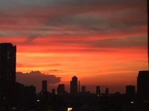 幸運を招いた東京の夕景 (1)