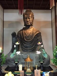飛鳥寺の飛鳥大仏 (2)